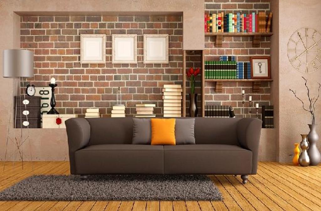 interior rumah gaya industrial kontemporer