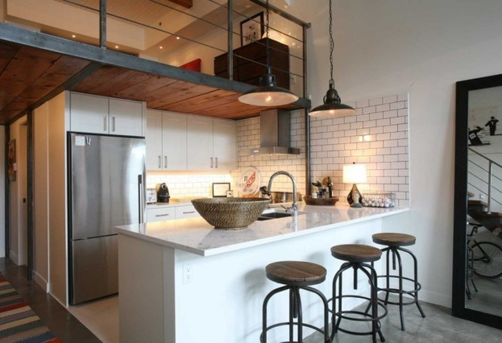 desain dan layout dapur gaya industrial