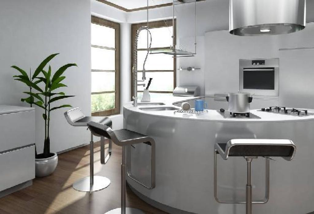 desain dan layout dapur futuristik