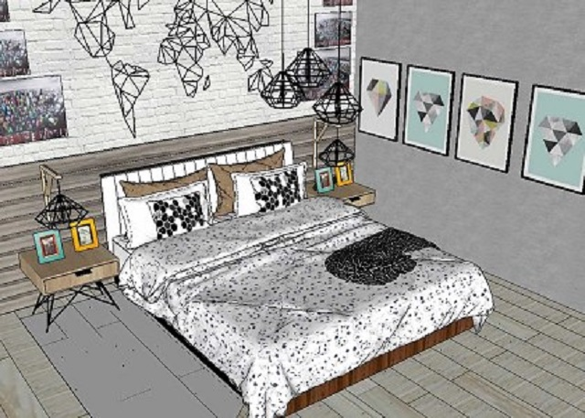 cara mudah desain kamar tidur kecil