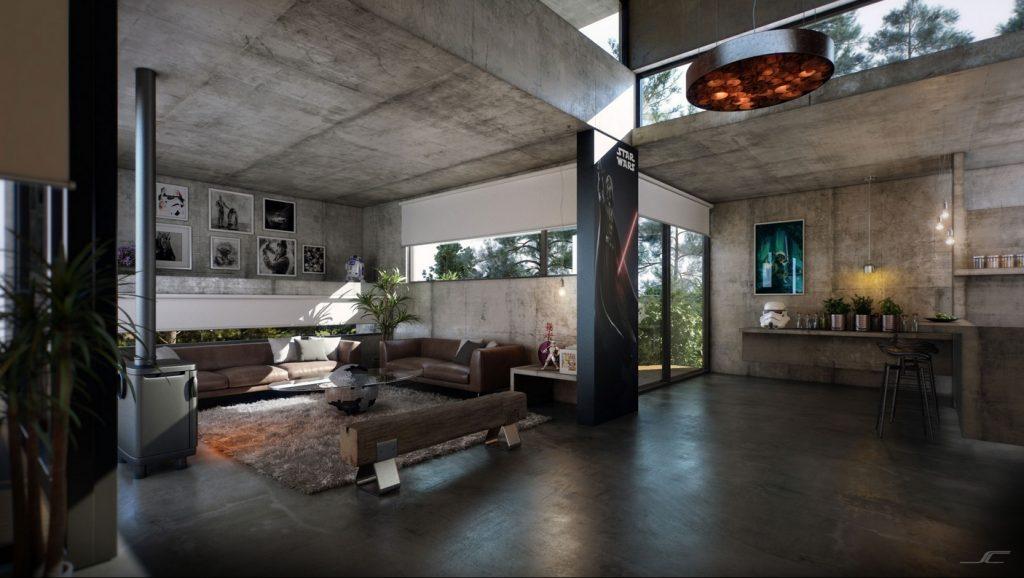 inspirasi rumah industrial