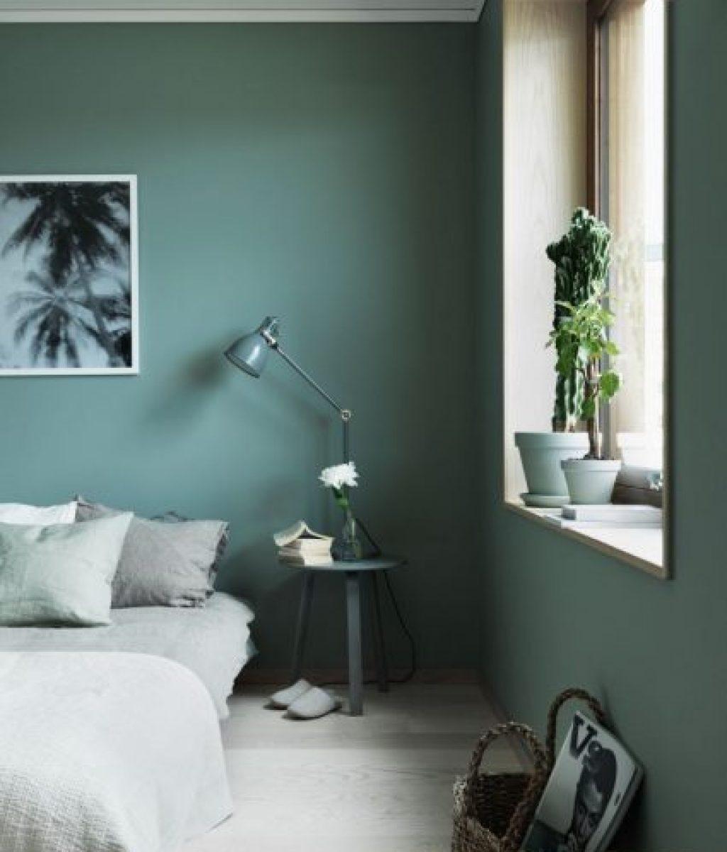 warna hijau emerald untuk kamar tidur