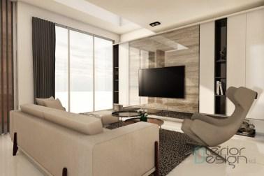 Jasa desain interior rumah bandung; ruang tamu rumah ibu tini