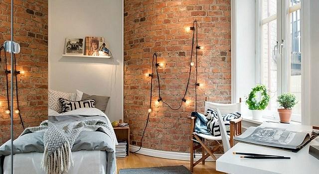 dekorasi interior dengan string light