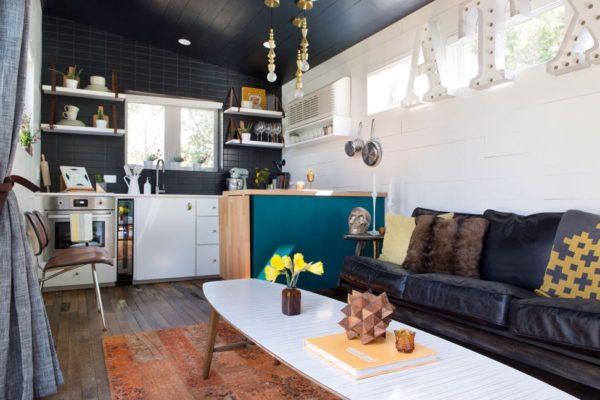 desain rumah kecil yang fungsional; desain ruang tamu