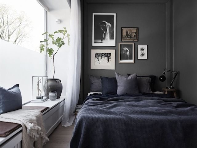 Desain Ruangan Dengan Pilihan Warna Hitam Warna Gelap Yang Tampil