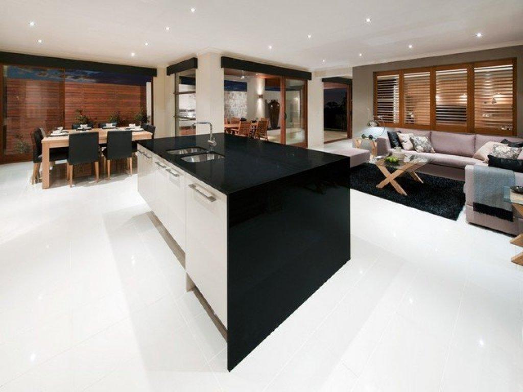 Desain ruangan warna hitam
