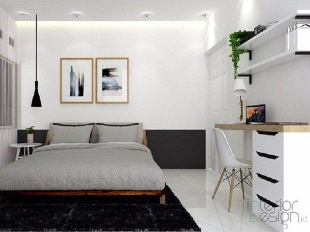 Desain Kamar Monokrom Kamar Tidur Putih Hitam Yang Anti Suram