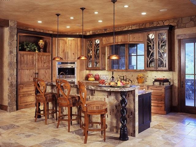 desain dapur rustic