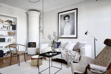 desain ruang tamu modern minimalis; interior asimetris