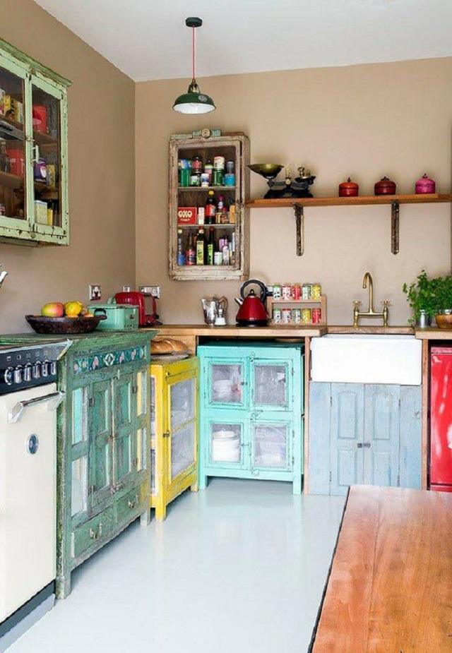 desain dapur bohemian