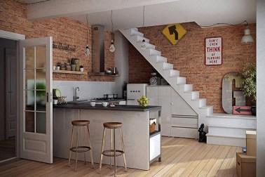 dapur kecil bentuk l