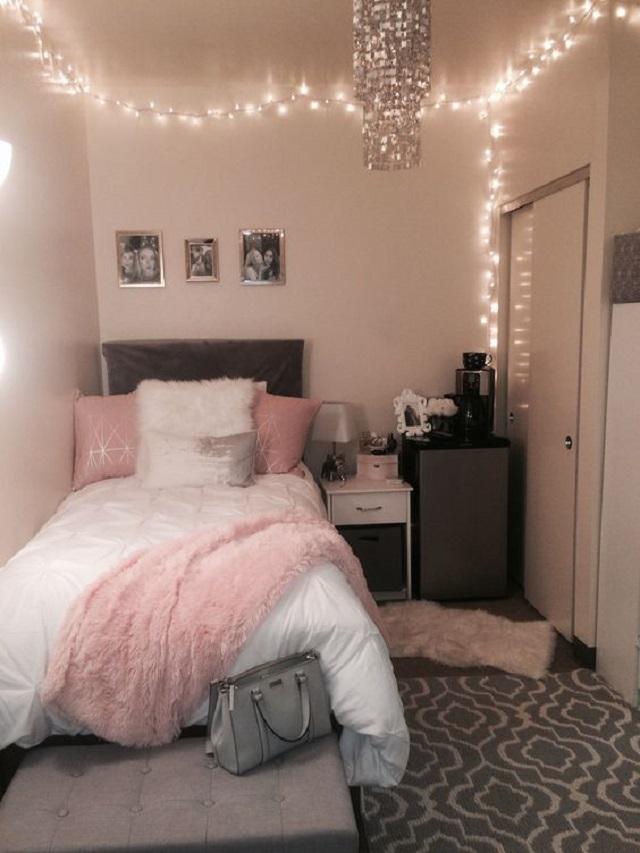 Desain Kamar Tidur Nuansa Pink Tips Hadirkan Suasana Cantik Dan