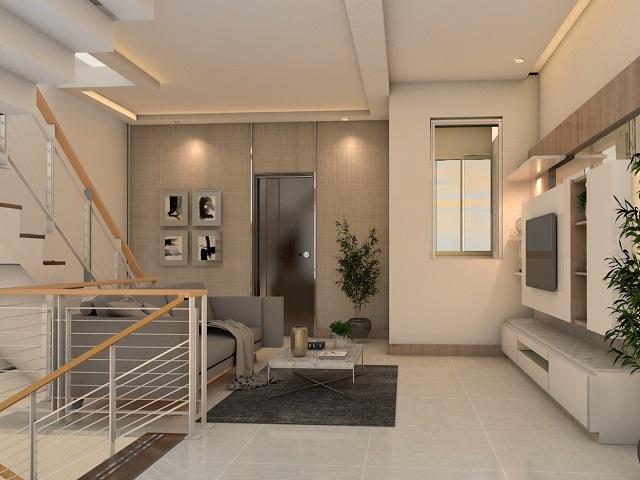 Desain Plafon Ruang Tamu Elemen Interior Yang Menarik Dan Impresif