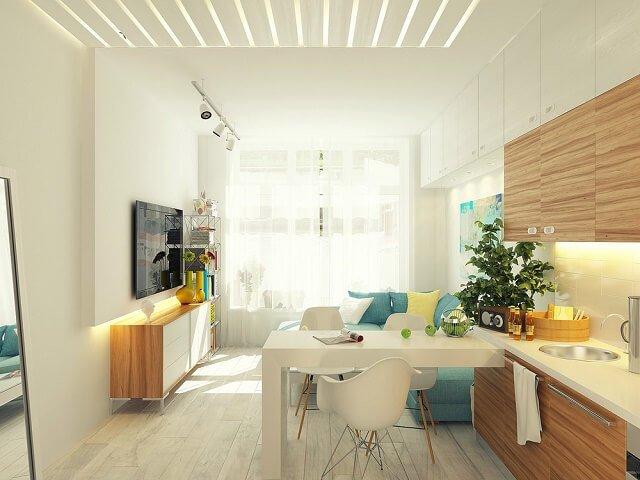 desain apartemen kecil
