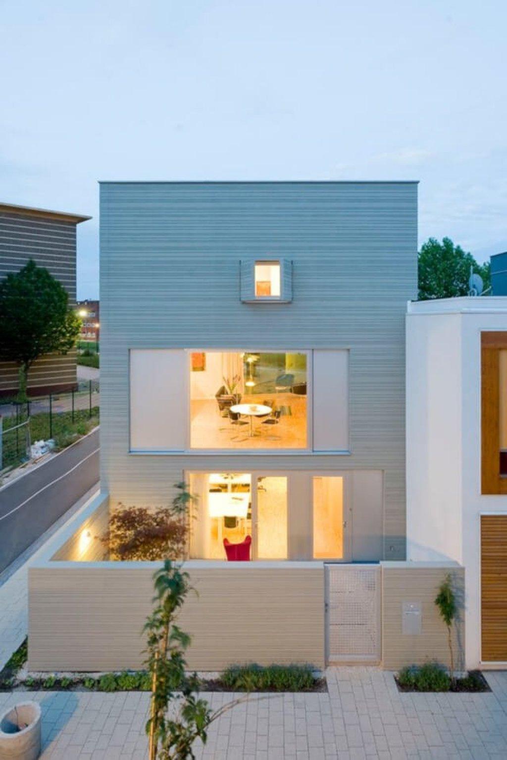 foto desain fasad rumah minimalis 2 lantai