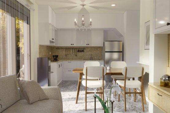 desain ruang makan gaya klasik modern