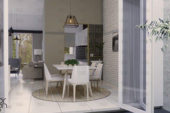 desain ruang makan gaya skandinavia modern