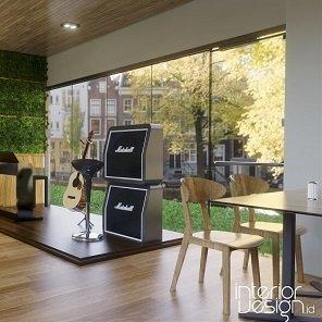 desain cafe gaya modern