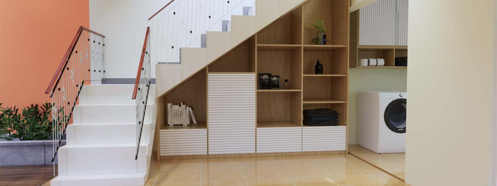 lemari kabinet bawah tangga