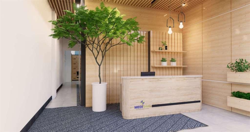 interior lobby kantor minimalis modern