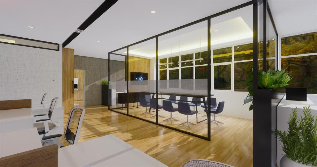 Desain interior area meeting kantor