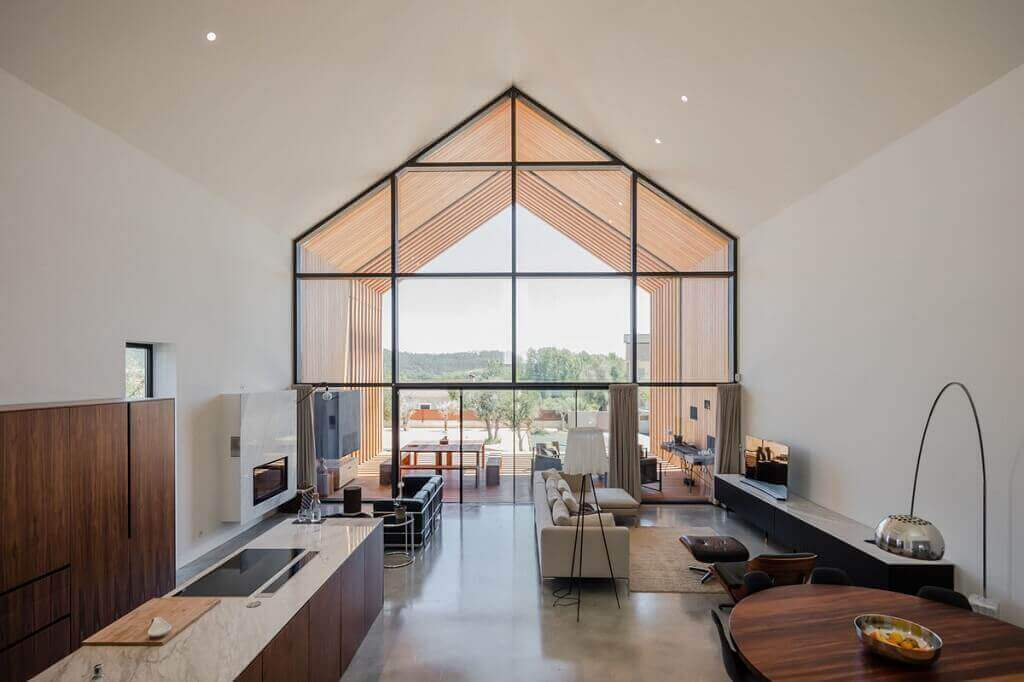 desain interior modern minimalis dengan proporsional geometrik