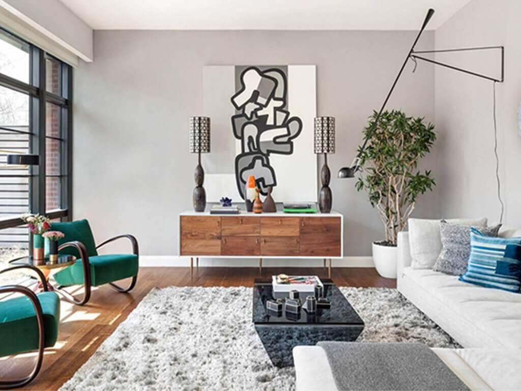 interior ruang tamu gaya urban modern