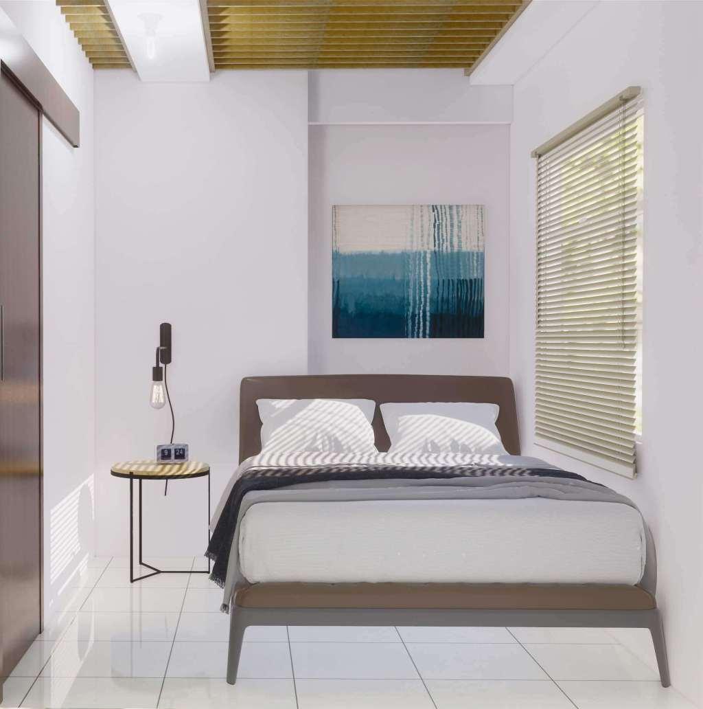 Desain interior kamar tidur modern minimalis