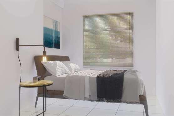 Desain kamar utama industrial minimalis