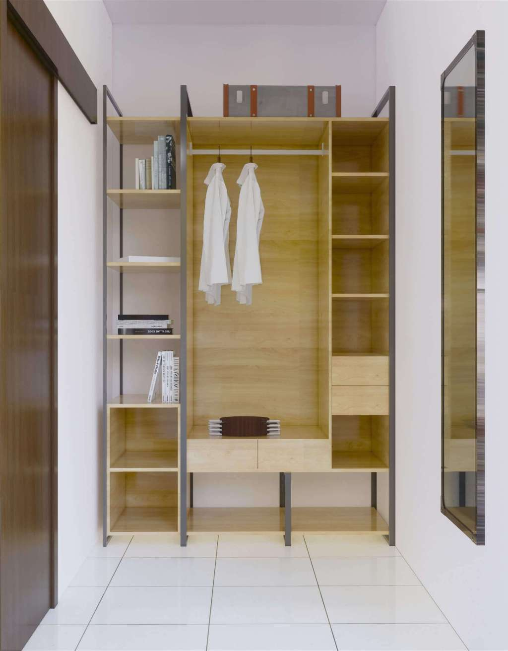 Desain walk in closet minimalis