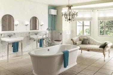 desain kamar mandi gaya shabby chic