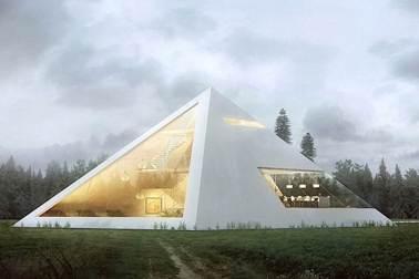 rumah unik bentuk piramid