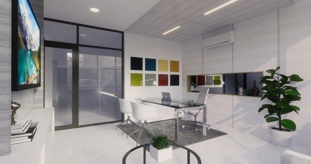 Desain interior ruang kerja gaya modern minimalis