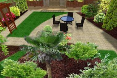 desain taman rumah konsep modern natural