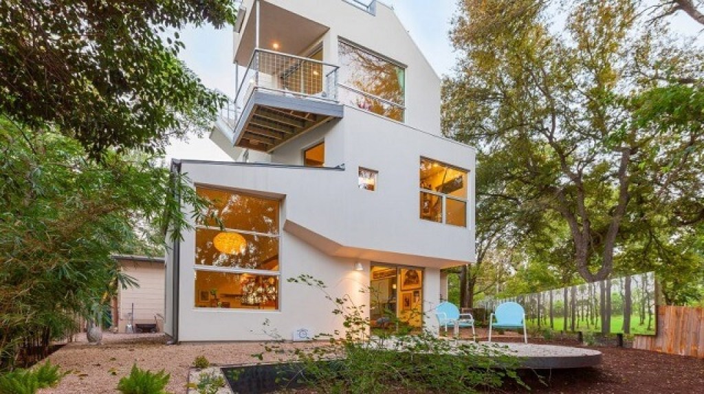 desain rumah mid-century modern
