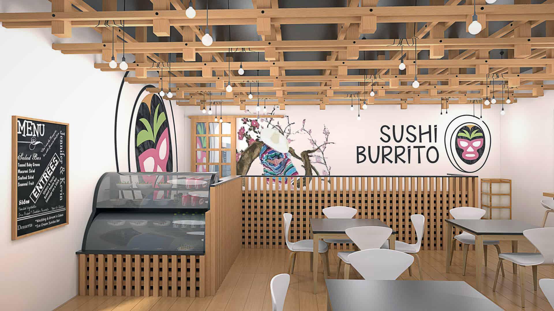 Sushi-Burrito Restaurant - Interior Designio