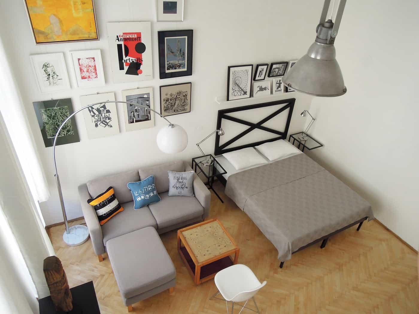 Studio apartment in Budapest