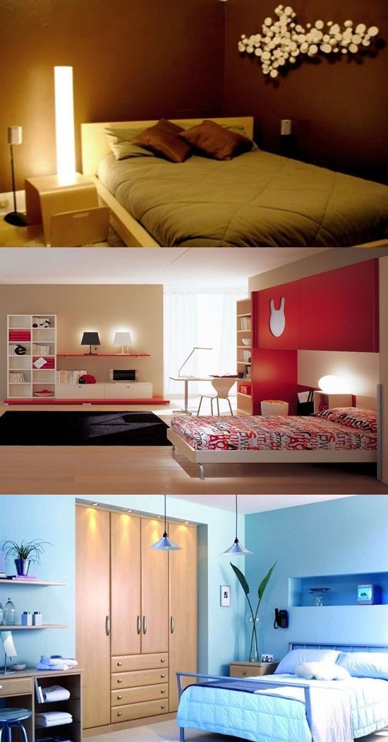 Small Bedroom Color, Lighting and Mirror Ideas - Interior ...