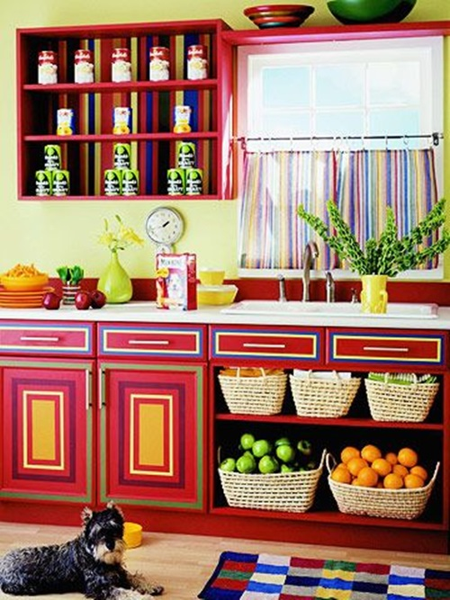 Amazing Vibrant And Multi Colored Kitchen Decorative Ideas