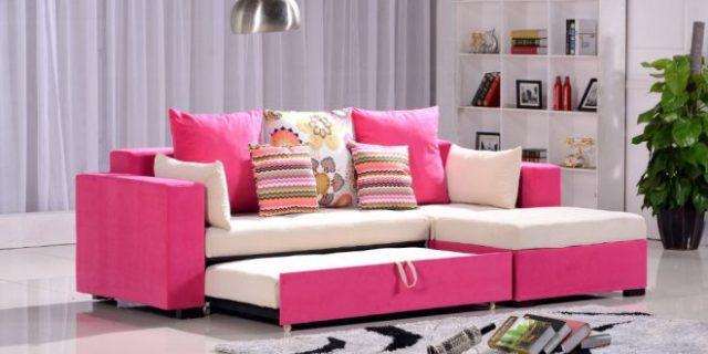 salón práctico y elegante sofá cama