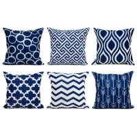 Blue Outdoor Throw Pillows