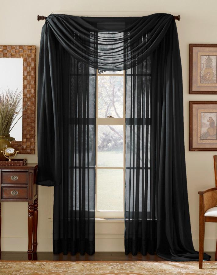 Sheer curtains   Interior Design Explained Black sheer curtains