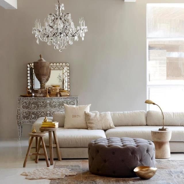 High Style, Low Cost: Parisian Natural Chic Living Room