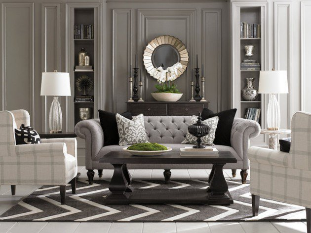 Grey and Off White Living Room Designs For Your Relaxation