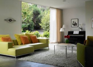 Beautiful Living Rooms Designed With Grey And Green Interior