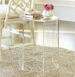 A touch of acrylic can lend light, fresh energy to any room. Our Acrylic Hexagon Side Table is crafted of thick-walled, high-quality acrylic.
