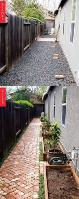 Before After A Side Yard Goes From Barren ☼ Via Apartmenttherapy