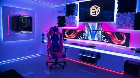 Best Play Room Design Ideas For Expert Gamer ☼ Via 24homely #Ps4 Gaming Setup #Dream Rooms #Gaming Setup Xbox