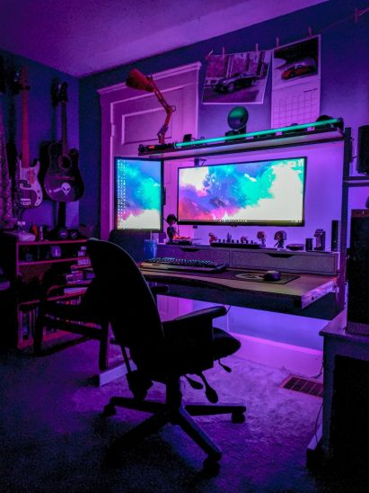 Best Video Game Room Ideas For Gamers Guide ☼ Via Unscripted360 #Gaming Room Setup #Quarto Gamer #Playstation Room #xbox
